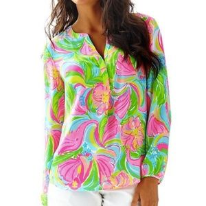 Lilly Pulitzer Stacey Top NWT Size Large